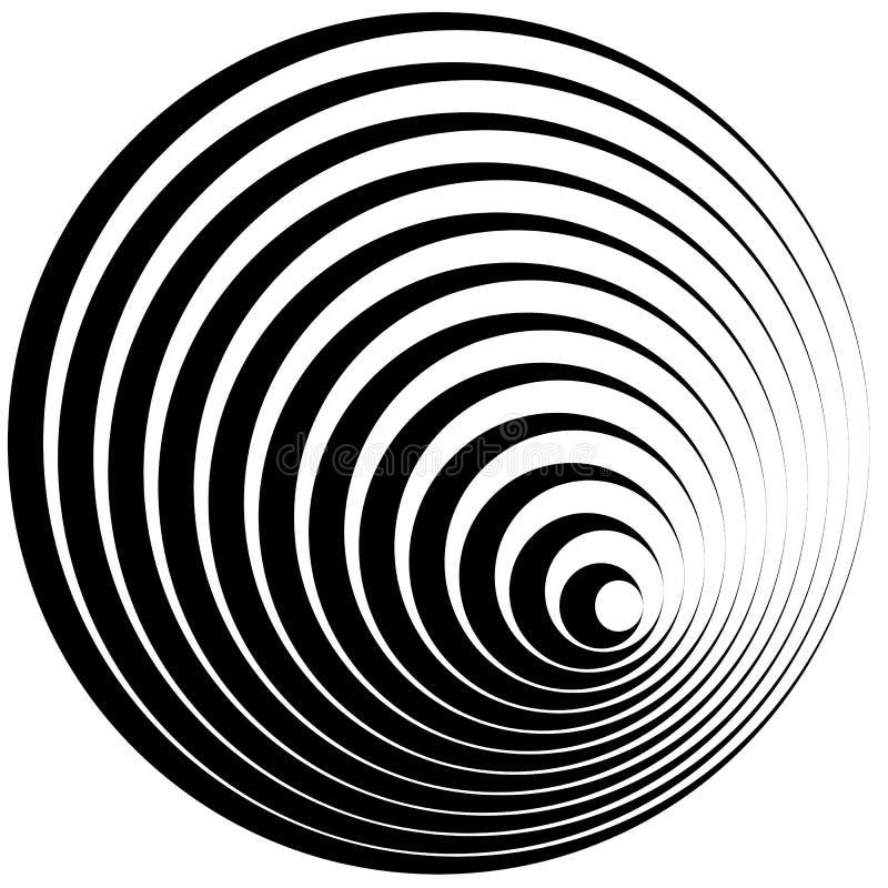 Cerchi concentrici con l'elemento dell'estratto di profilo del colpo illustrazione di stock