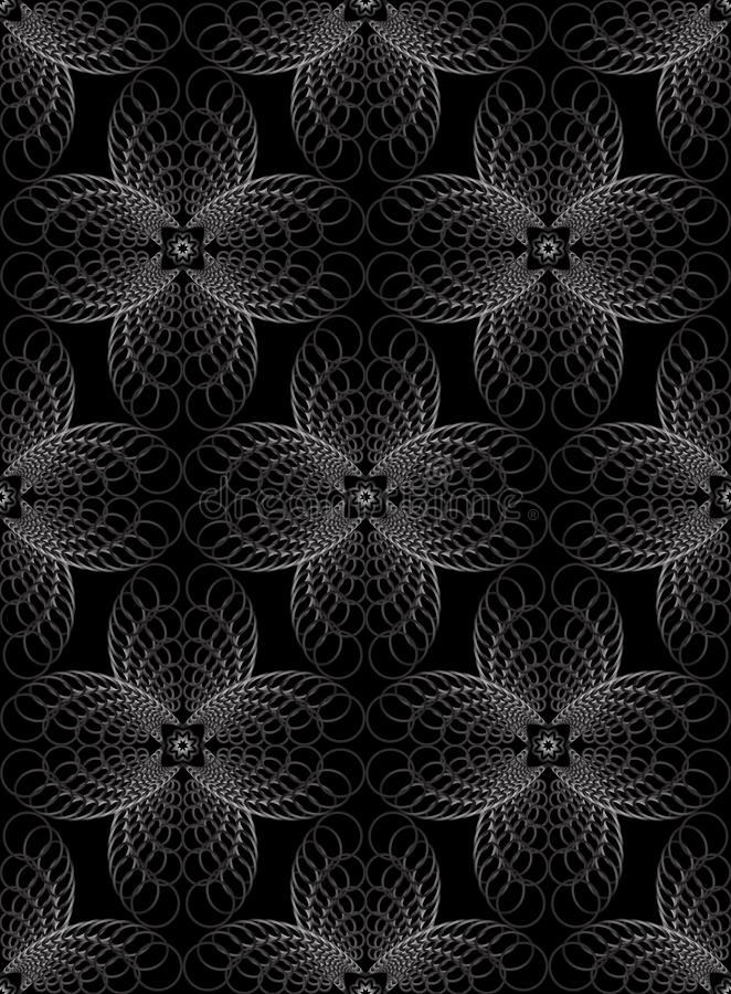 Cerchi concentrici del modello senza cuciture di semitono geometrico astratto royalty illustrazione gratis