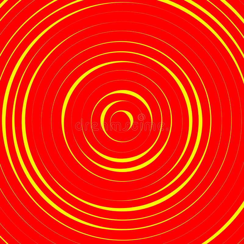 Cerchi concentrici, modello astratto degli anelli Adatto come backgrou illustrazione vettoriale