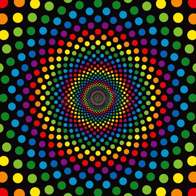 Cerchi del Rainbow royalty illustrazione gratis