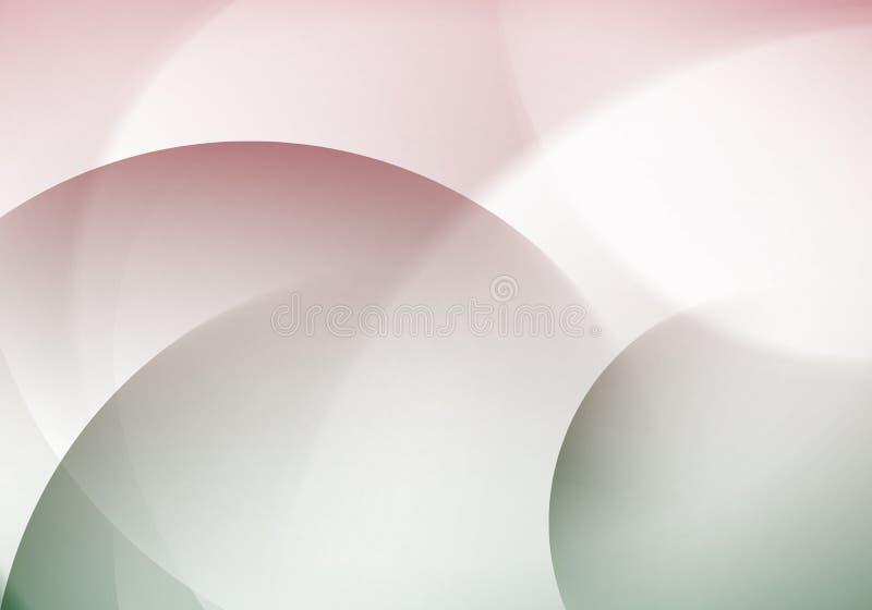 Cerchi di colore interstiziali nel fondo astratto illustrazione di stock