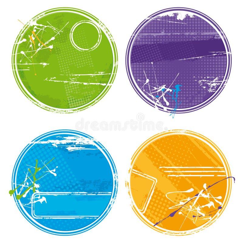 Cerchi di Grunge - vettore royalty illustrazione gratis