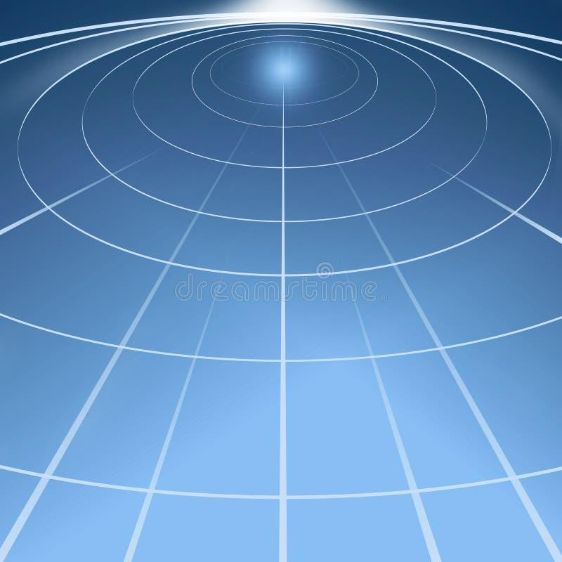 Cerchi di indicatore luminoso nello spazio illustrazione di stock
