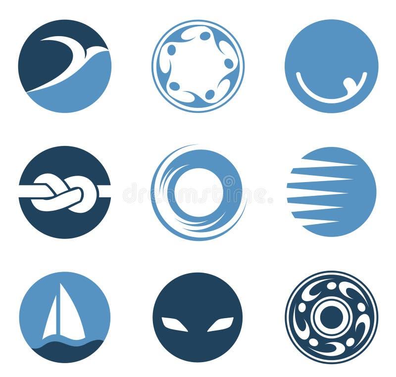 Cerchi di marchio illustrazione vettoriale