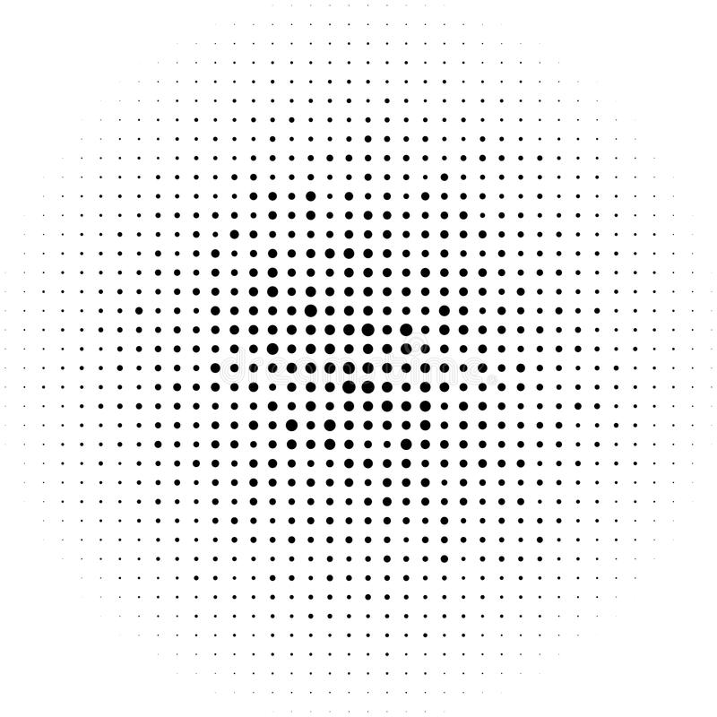 Cerchi di semitono, modello di punti di semitono Semitono monocromatico royalty illustrazione gratis