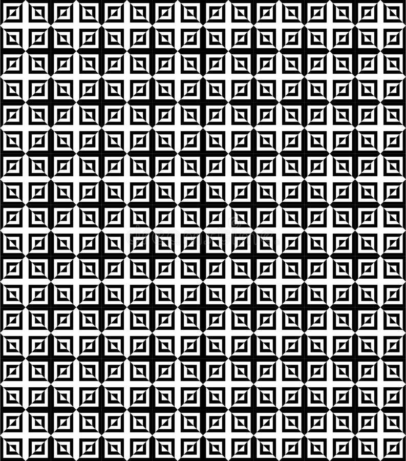 Cerchi geometrici astratti in bianco e nero modello senza cuciture, vettore royalty illustrazione gratis