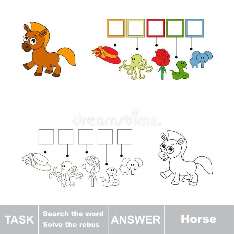 Cerchi il cavallo di parola illustrazione di stock