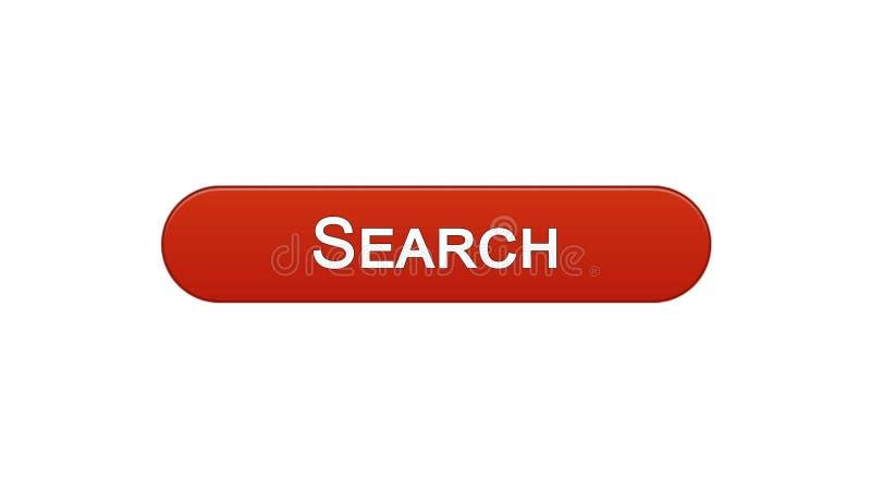 Cerchi il colore rosso del vino del bottone dell'interfaccia di web, il monitoraggio di Internet, progettazione del sito illustrazione di stock