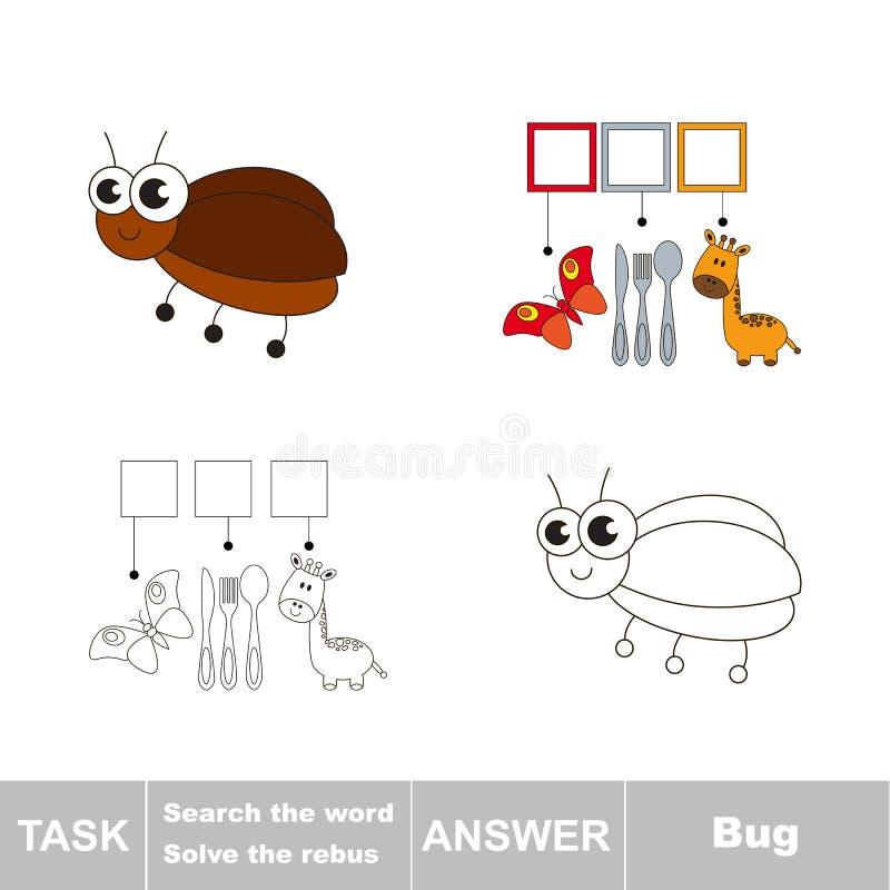 Cerchi l'insetto di parola illustrazione di stock