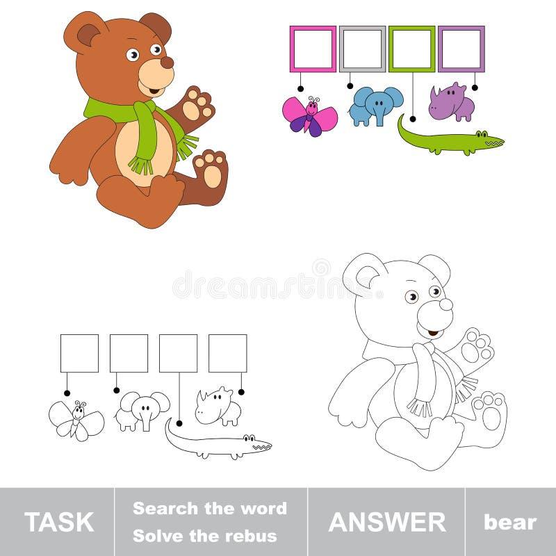 Cerchi la parola ORSO Compito e risposta illustrazione di stock