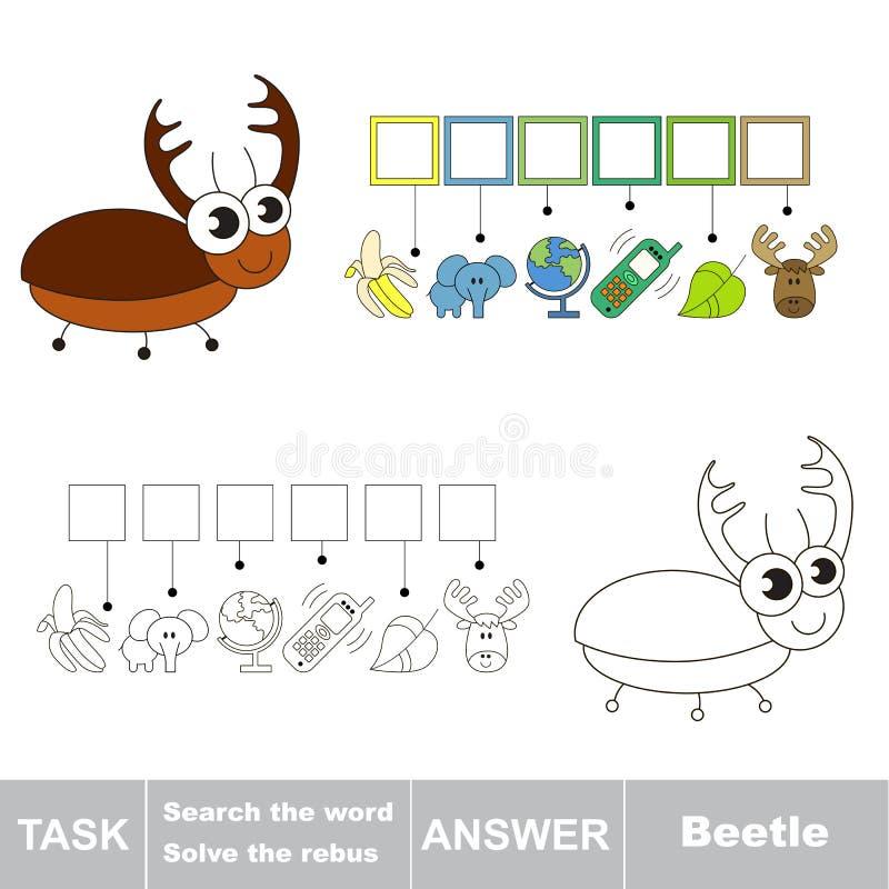 Cerchi lo scarabeo di parola illustrazione vettoriale