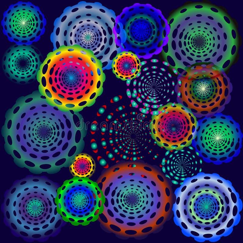 Cerchi psichedelici della discoteca royalty illustrazione gratis