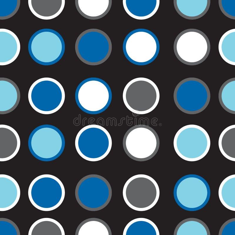 Cerchi senza cuciture del modello della geometria dei pantaloni a vita bassa di vettore, fondo geometrico astratto in bianco e ne illustrazione di stock