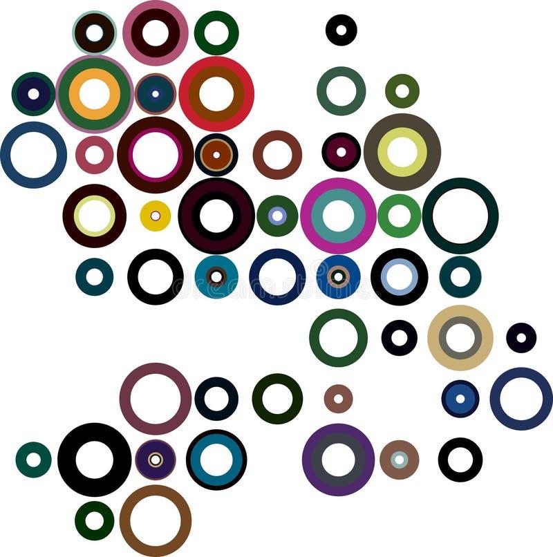 Cerchi variopinti illustrazione di stock