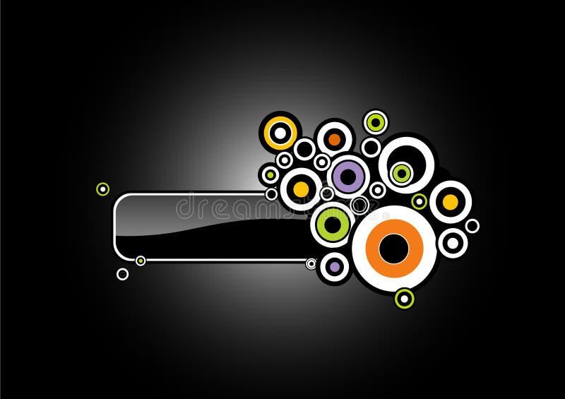 Cerchi variopinti astratti. Vettore illustrazione di stock
