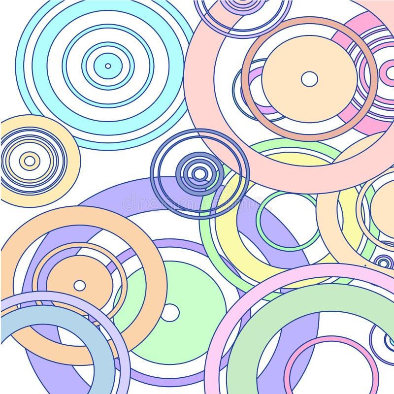 Cerchi variopinti su fondo bianco royalty illustrazione gratis