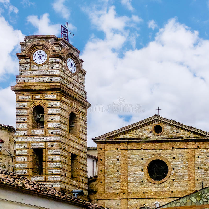 Cerchiara diCalabria kyrka royaltyfri foto