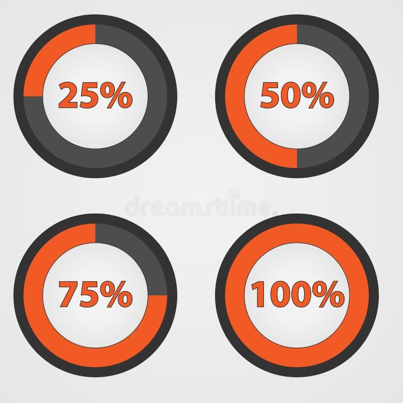 Cerchio arancio di caricamento di informazioni fotografia stock