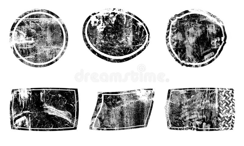 Cerchio astratto dell'elemento Struttura della macchia della sbavatura della spazzola royalty illustrazione gratis