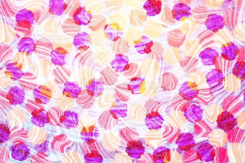 Cerchio astratto giallo, porpora e rosa variopinto, modello di punto royalty illustrazione gratis