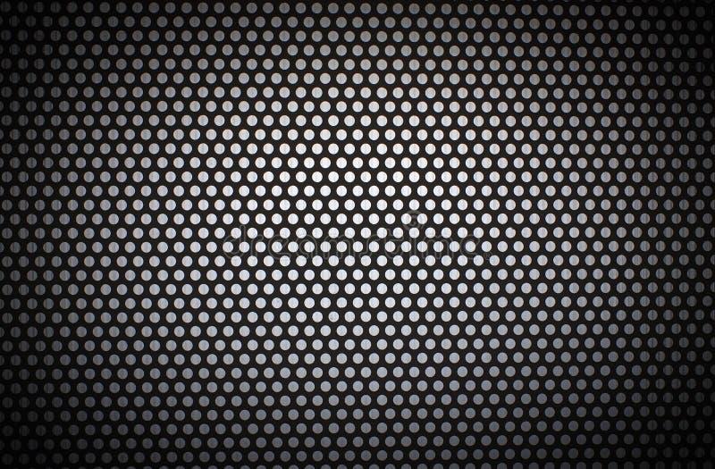 cerchio bianco Nero con i fori bianchi e la vignettatura scura fotografia stock