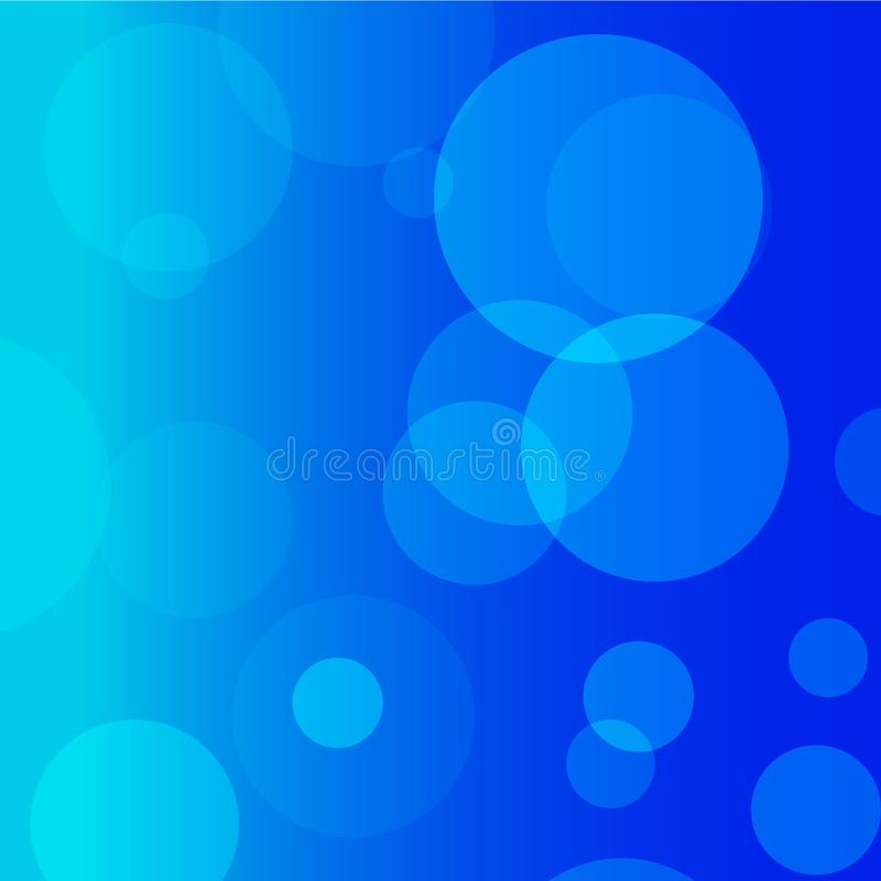 Cerchio blu e fondo blu di vettore fotografie stock libere da diritti