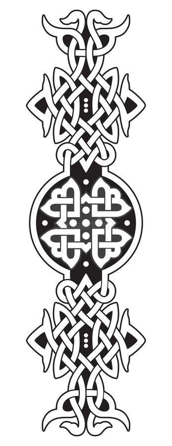 Cerchio celtico illustrazione di stock