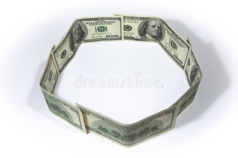 Cerchio dei soldi immagine stock libera da diritti