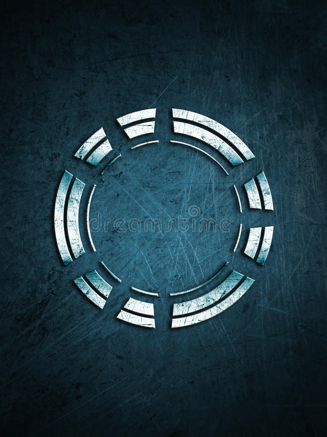 Cerchio del metallo su un fondo graffiato fotografia stock libera da diritti