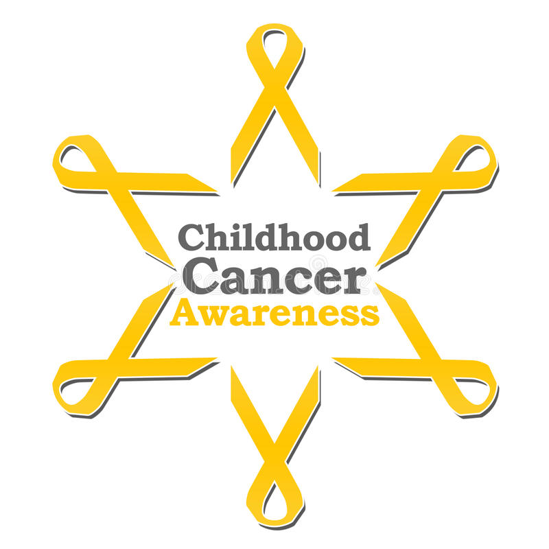 Cerchio del nastro di consapevolezza del Cancro di infanzia illustrazione di stock