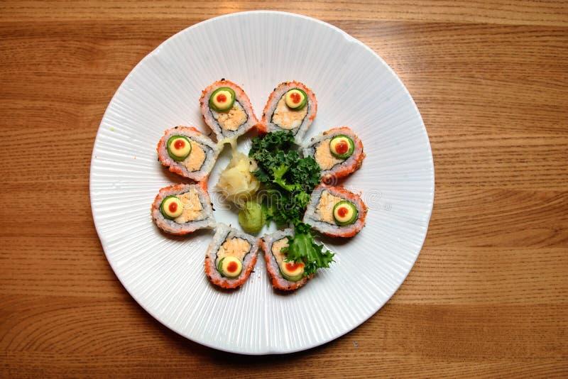 Cerchio del rotolo di sushi fotografia stock libera da diritti