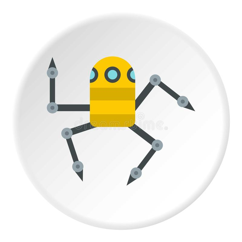 Cerchio dell'icona del ragno del robot royalty illustrazione gratis