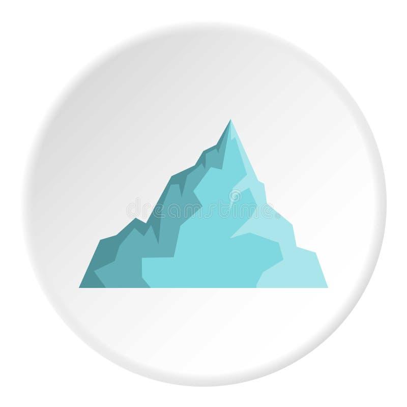 Cerchio dell'icona dell'iceberg illustrazione di stock