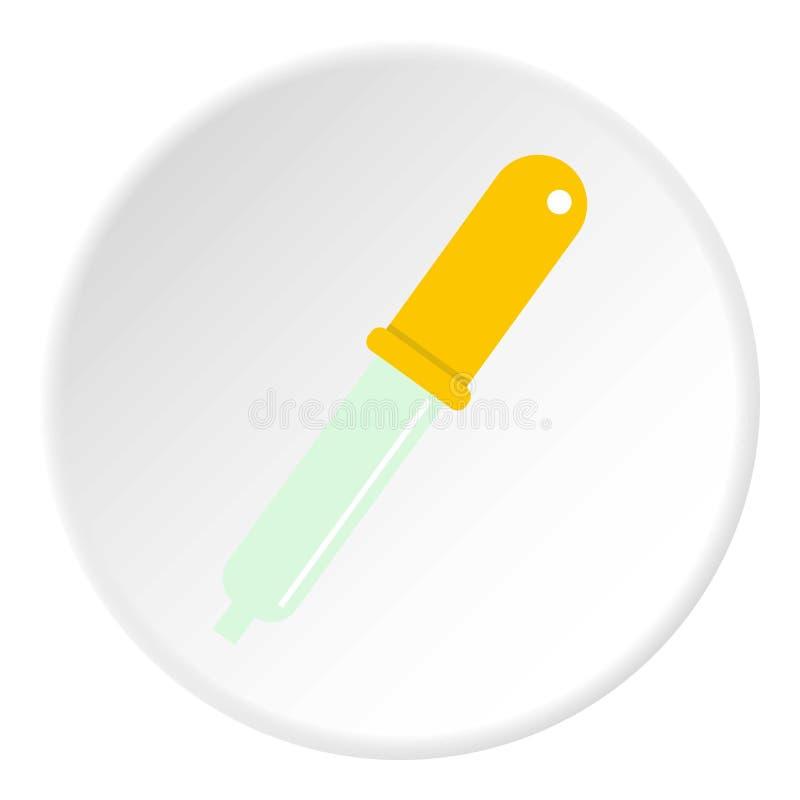 Cerchio dell'icona della pipetta della raccoglitrice di colore royalty illustrazione gratis