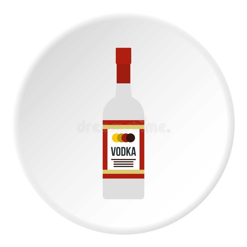 Cerchio dell'icona della vodka illustrazione di stock