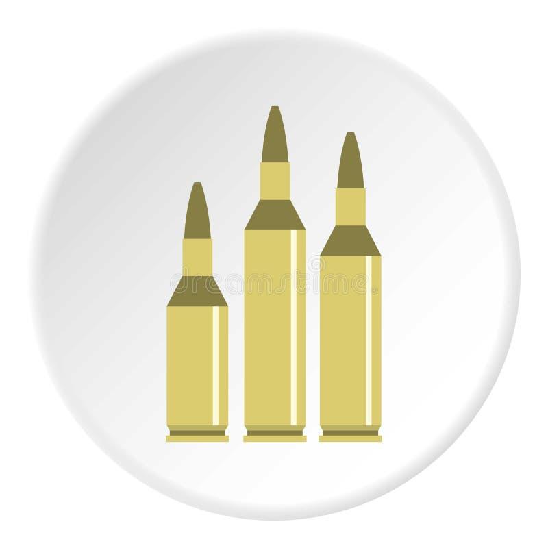 Cerchio dell'icona delle munizioni della pallottola royalty illustrazione gratis
