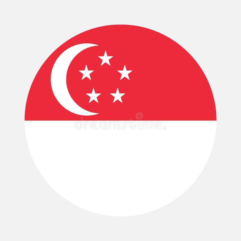 Cerchio della bandiera di Singapore fotografie stock