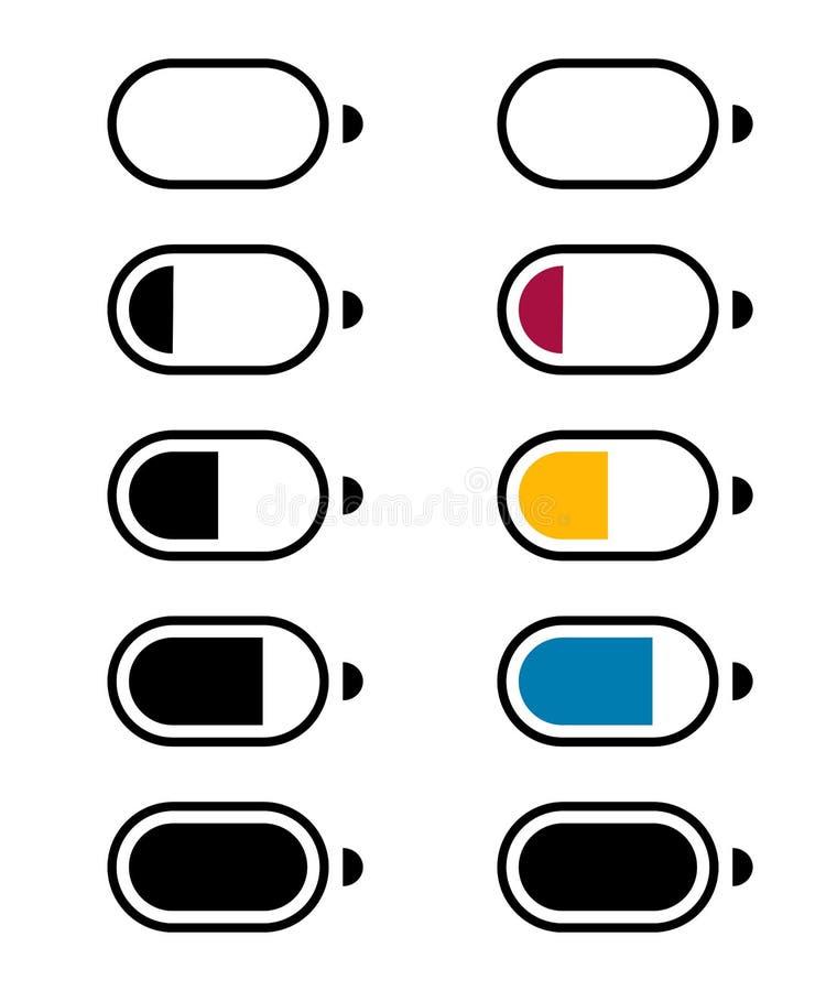 Cerchio della carica della batteria 2 illustrazione di stock