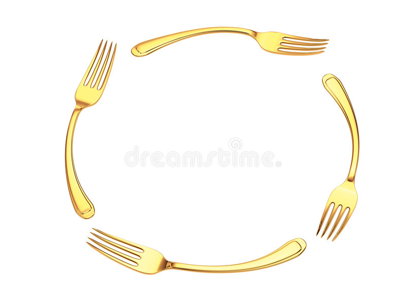 Cerchio della forcella dell'oro royalty illustrazione gratis