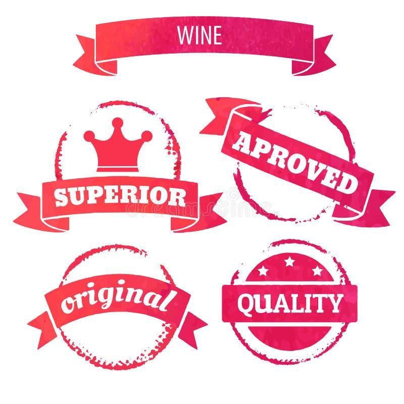 Cerchio della macchia del vino royalty illustrazione gratis