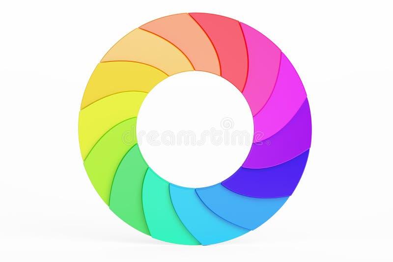 Cerchio della tavolozza Logotype colorato di affari, rappresentazione 3D illustrazione di stock