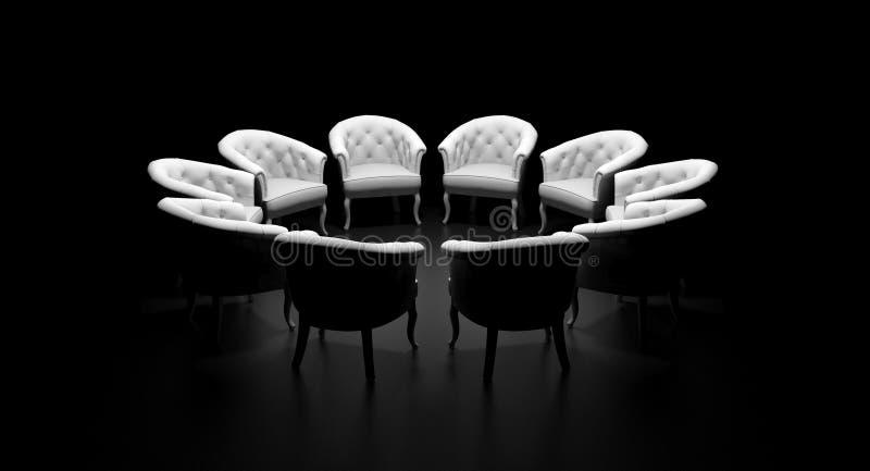 Cerchio delle sedie illustrazione vettoriale
