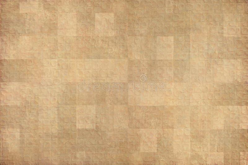 Cerchio di arte e fondo geometrici dei quadrati immagine stock libera da diritti