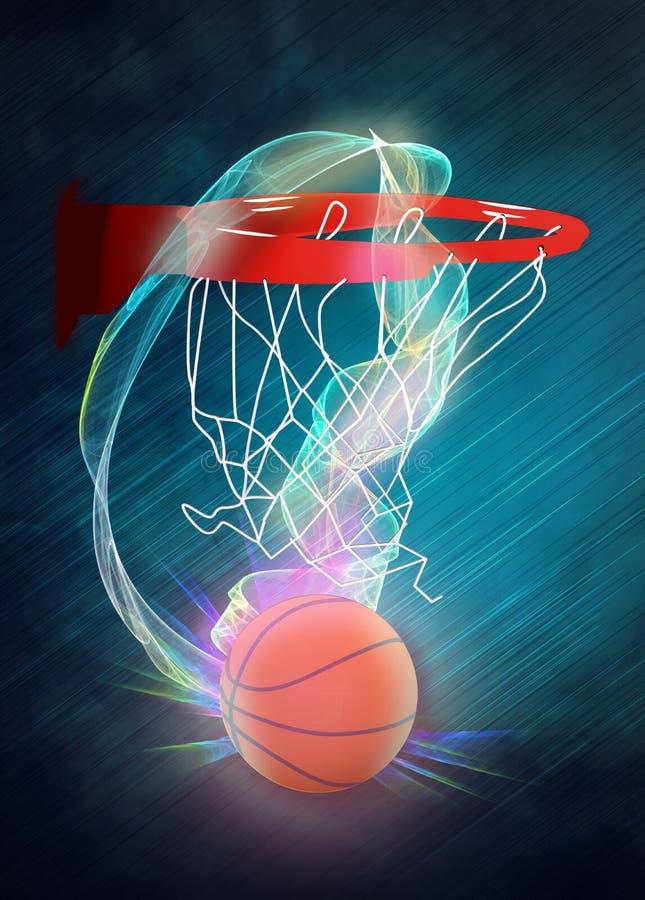 Cerchio di Baketball e fondo della palla royalty illustrazione gratis