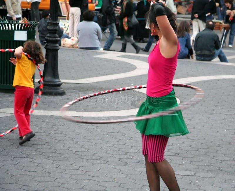 Cerchio di Hula nella sosta fotografia stock libera da diritti