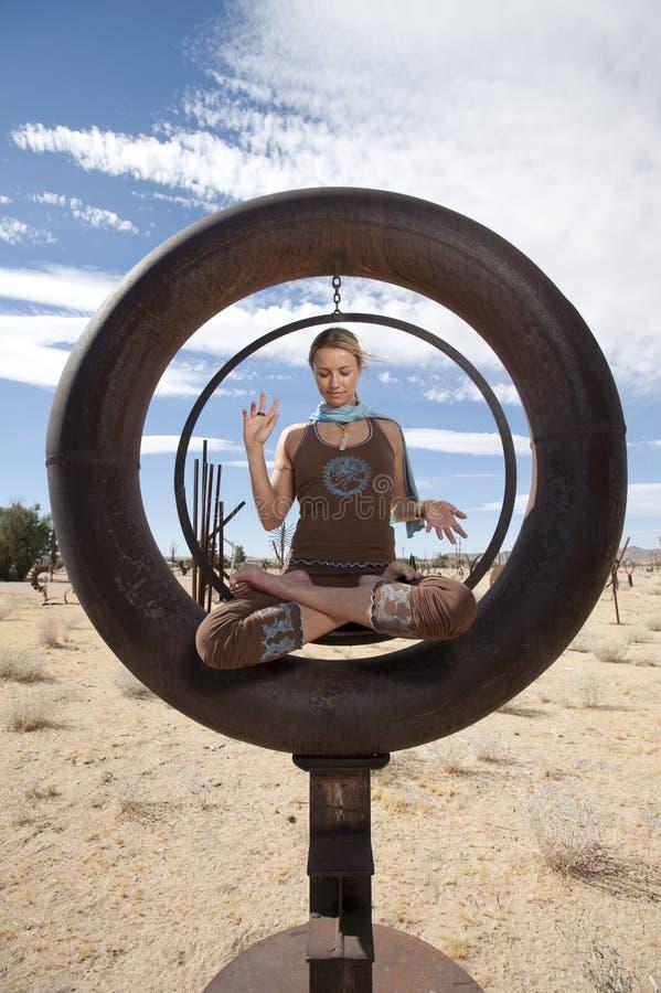 Cerchio di meditazione fotografie stock