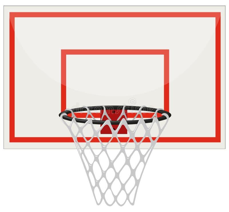 Cerchio di pallacanestro con rete illustrazione vettoriale
