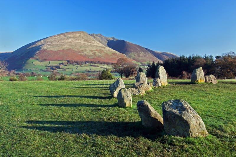 Cerchio di pietra di Castlerigg immagini stock libere da diritti
