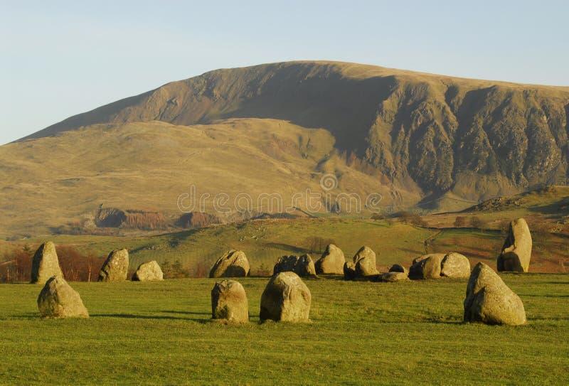 Cerchio di pietra di Castlerigg fotografia stock
