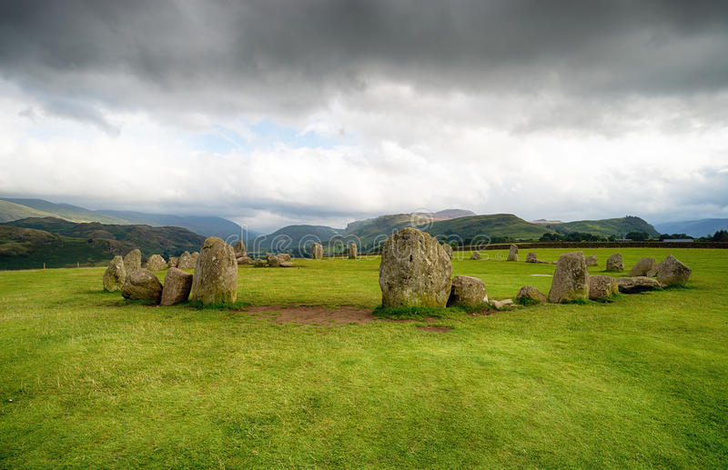 Cerchio di pietra di Castlerigg immagine stock libera da diritti